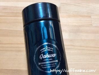 カフアのコーヒーボトルの刻印