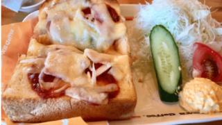 コメダ珈琲店のザ・厚切りピザトースト