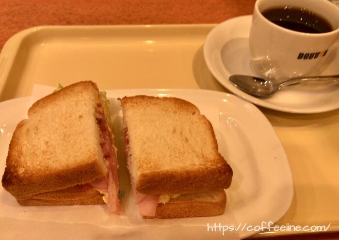 ドトールの朝カフェセットA(ハムタマゴサラダ)
