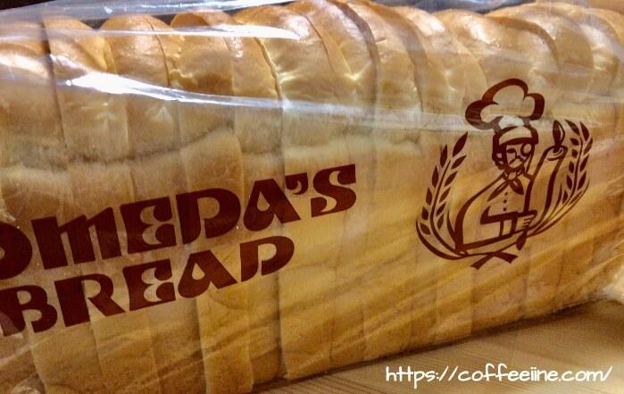 コメダ珈琲店の2センチにスライスした1本売りの山食パン