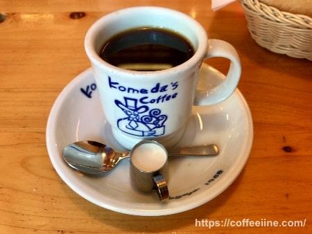 コメダ珈琲店のホットコーヒー