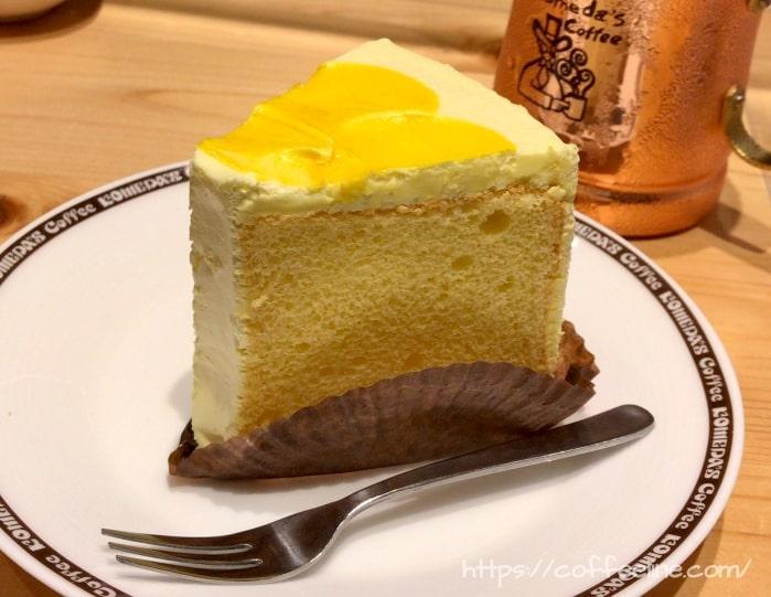 コメダ珈琲店の季節のデザート(ふ和っと柑橘)