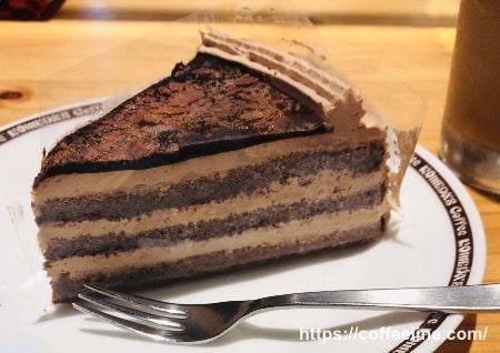コメダ珈琲店の季節のケーキ(氷点下ショコラ)
